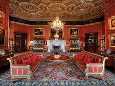 Experience the beautiful Renaissance-style State Rooms, open now at Alnwick Castle. Learn more and book your visit to the castle today! Castle Drawing, Drawing Room, Inside Windsor Castle, Alnwick Castle, Ashford Castle, State Room, English Castles, Castle Wall, Castle Rooms