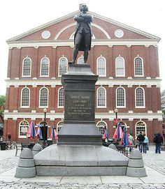 Statue of Samuel Adams in front of Faneuil Hall, home of the Boston Town Meeting