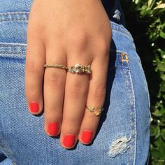 Summer Sunday's ❤️ #ALEXMIKA Yellow Gold Band, Shattered Ring & Moon Star Ring ✨  alexmikajewelry.com