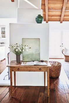 White and Wood Entryway