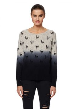 df22e50d3b696f Women's Yolanda Dexter Skull Cashmere Sweater | Skull Cashmere