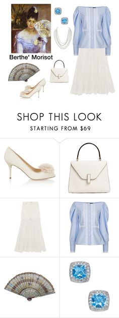 """""""Morisot Inspired"""" by scolab ❤ liked on Polyvore featuring Charlotte Olympia, Valextra, McQ by Alexander McQueen, FLOW the Label and Humble Chic"""