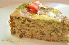 drob de post (ciuperci) Homemade Food, Lasagna, Deserts, Veggies, Ethnic Recipes, Kitchens, Essen, Vegetable Recipes, Vegetables