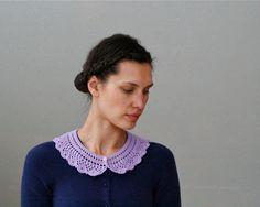"Crochet Lace Collar ""Lila"" -  PDF PATTERN. $3.95, via Etsy."