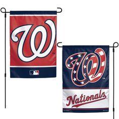 "WASHINGTON NATIONALS 12""X18"" 2-SIDED GARDEN FLAG NEW WINCRAFT"