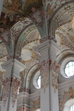 baroque talks about order and gentle colors and hard patterns ( think of Jesus smiling at the letter t )