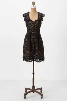 Luella Dress - Anthropologie. Swirled with bold curlicues, Yoana Baraschi's fanciful, sheer silk frock begs to be donned to galas and weddings and champagne-toasted dinners.
