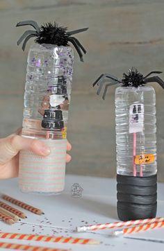 Un Halloween alucinante con botellas de agua