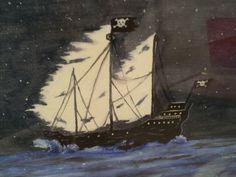 """Ghost Ship"" oil on canvas by shaun lambert"
