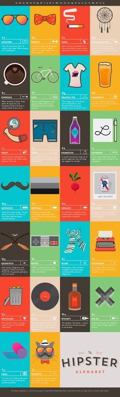 Área Visual - Blog de Arte y Diseño: El alfabeto Hipster de Michael Mahaffey