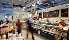 DOUGH Market – Interior, polished concrete, exposed structure - Asheville NC | Form & Function Architecture