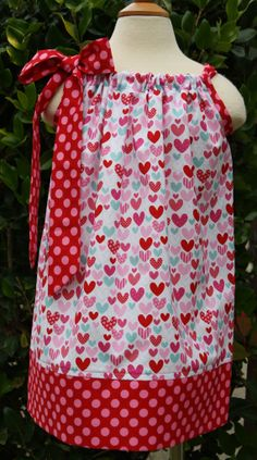 You have My Heart Pillowcase Dress Size 0-12 mths- size 8 available.. $16.00, via Etsy.
