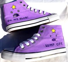 Lumpy Space Princess Shoes by AllHeartAndSole on Etsy