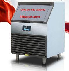 High quality commercial electric ice making machine 120kg per day 45kg store time setting auto wash ice cube maker ice machine