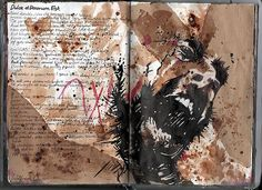 Ruth Beeley: St George's School, Hertfordshire England Sketchbook page for A Level Art Coursework final artwork. Ruth explored the theme of war, and drew inspiration for sources including Wilfred Owen's poem 'Dulce et Decorum est'. A Level Art Sketchbook, Sketchbook Layout, Sketchbook Pages, Sketchbook Inspiration, Sketchbook Ideas, Moleskine, Portfolio, Art Plastique, Art Studios