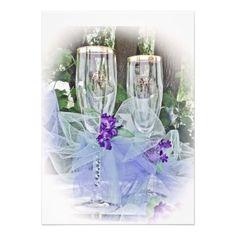 Bride and Groom Glasses ~ Wedding Invitations