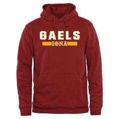 Iona College Gaels Team Strong Pullover Hoodie - Crimson