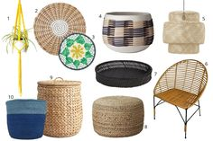 Woven Wonders: 10 Items to Add a Laid-Back Bohemian Look to Your Home