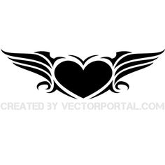 Heart with wings vector image.