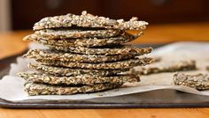 Chia seed crackers.. look at the recipe i think you'll love it