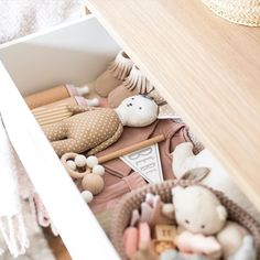 "133 Likes, 9 Comments - MINIMALIST Est '14 (@doveanddovelet) on Instagram: ""Such a pretty prop drawer @thispaperbook all the way over in the UK Bethany has always supported…"" Baby toys Children Nursery"