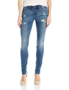 9eadd8d6446  blanknyc  Womens Skinny Classique Distressed Jean Blue 25 -- See this  great product.(It is Amazon affiliate link)  WomenJeansCollection