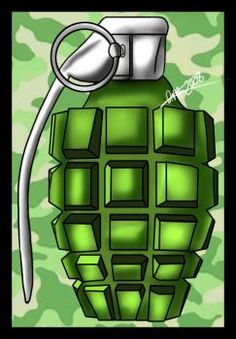 how to draw an mk2 hand grenade