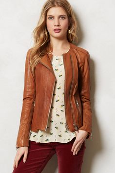 Sylvana Leather Moto Jacket - anthropologie.com