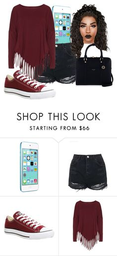 """""""Qnique's Love"""" by dancer4life-325 ❤ liked on Polyvore featuring Apple, Topshop, Converse, Boris and Henri Bendel"""