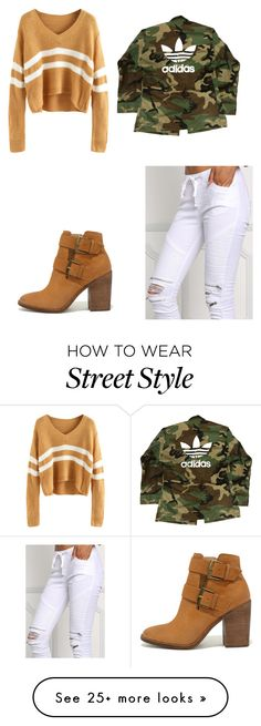 """""""Untitled #186"""" by kallzouni on Polyvore featuring adidas and Steve Madden"""
