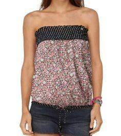 "Roxy Women's ""PLASTIC FLOWERS"" Black w/ Flower designs Blouse 472680-BAK-Medium Roxy. $37.98. 100% cotton. Save 15%!"