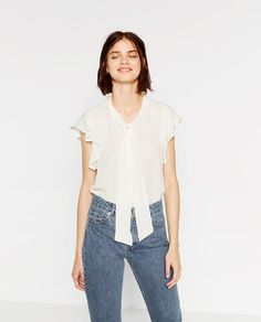 ZARA - WOMAN - BLOUSE WITH BOW