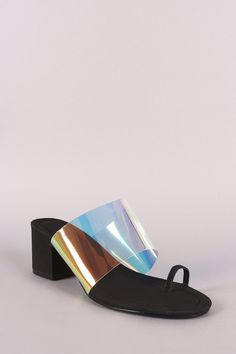 d8fcf7bc891d These stylish heels feature a holographic patent band