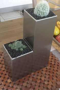 Tall Vases, Planter Pots, Stainless Steel, Modern, Style, Swag, Trendy Tree