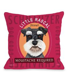 Look at this #zulilyfind! Fuschia Schnauzer 'Little Rascal Stout' Throw Pillow #zulilyfinds