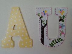 Custom Painted Little Girl's Wall Letters por SophiasRosieRoom