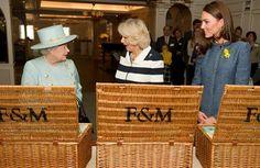 Queen Elizabeth, Duchess Camilla, and Duchess Kate