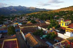 Evening light over Trinidad | Trinidad is a town in the province of Sancti Spíritus, central Cuba. Together with the nearby Valle de los Ingenios, it has been one of UNESCOs World Heritage sites since 1988.
