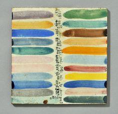 Carter glaze trial tile  Dated 1950