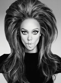 Tyra Banks.  I think Herb would have done it this way were he still here to photograph Tyra.