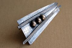 Abstract Textured Sterling Silver Brooch by Decadence2Jewelry, $62.00