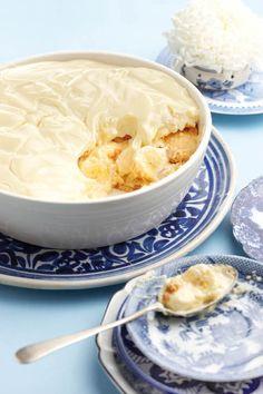 Unbaked banana and custard tart | SARIE