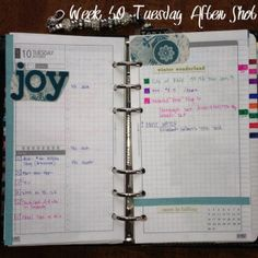 Week 50 Tuesday After Shot #filofax #daytimer #franklin covey #diyfish #lifemapping #planner #organization