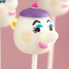Teapot Cake Pops  Mrs. Potts face.