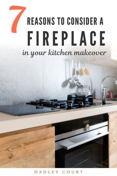 Are you considering a kitchen makeover? We love homey kitchens that have a fireplace. Fireplaces in kitchens can be very modern. Keep reading as we share seven reasons why you should consider a fireplace in your kitchen makeover! Hadley Court Interior Design Blog by Central Texas Interior Designer, Leslie Hendrix Wood. Studio Kitchen, Kitchen Design, Homey Kitchen, Small Fireplace, Other Rooms, Great Rooms, Hadley, Interior Design, Central Texas