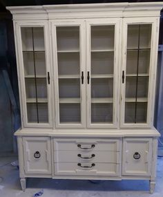 From Shabby Chic Texas · Check Out This GORGEOUS And HUGE Display Cabinet.  Imagine What You Could Display In It