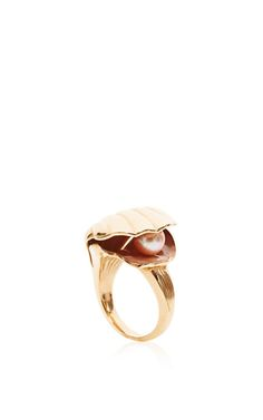 Oyster Ring by Alison Lou for Preorder on Moda Operandi