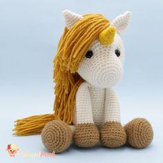 Crochet Unicorn Pattern Free, Crochet Horse, Crochet Patterns Amigurumi, Crochet Dolls, Patron Crochet, Irish Crochet, Unicorn Pillow, Crochet Mandala, Crochet Hook Sizes