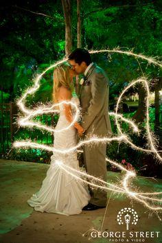 Sparklers in weddings. <3