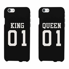 365 Printing King 01 Queen 01 Couple Phone Case Set Cute Matching Phone Covers